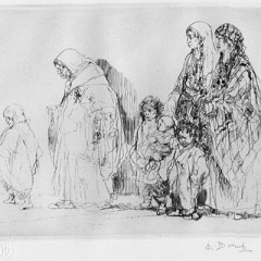 Auguste Brouet - Eau-forte - The Gipsy Women