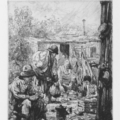 Auguste Brouet - Eau-forte - The Rag-Pickers (2nd plate)