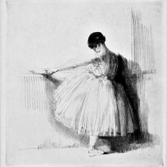 Auguste Brouet - Eau-forte - Dancer at the Barre (1st plate)