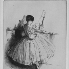 Auguste Brouet - Eau-forte - Dancer at the Barre (2nd plate)