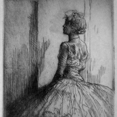 Auguste Brouet - Eau-forte - Dancer from the Back