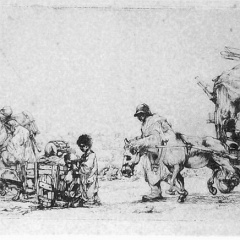 Auguste Brouet - Eau-forte - The Procession of the Gipsies