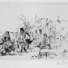 Auguste Brouet - Eau-forte - Dismantling the Fortifs (small plate)