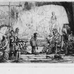 Auguste Brouet - Eau-forte - The Pinder Circus (Large Plate)