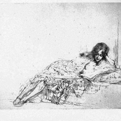 Auguste Brouet - Eau-forte - The Reader (2nd plate)