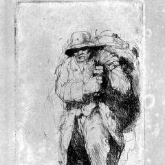 Auguste Brouet - Eau-forte - Old-Clothes Dealer (2nd plate)