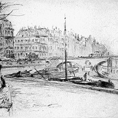 Auguste Brouet - Eau-forte - The Pont-Neuf (2nd plate)