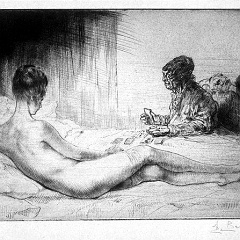 Auguste Brouet - Eau-forte - The Fortune Teller (1st plate)