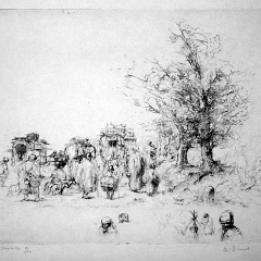 Auguste Brouet - Eau-forte - [A Group of Gipsies]